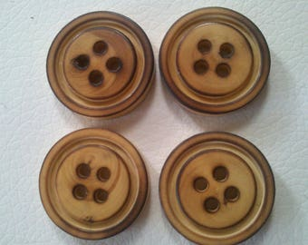 Large Brown simple wooden buttons