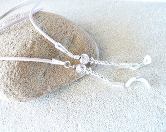EYEGLASS CHAIN LEATHER, cord glasses jewelry