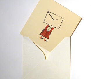 Write a letter, postcard, envelope, girl, mail