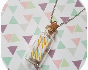 """Necklace greed flask """"candy (6)"""