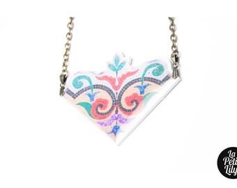 """Simple mosaic necklace """"constantine"""" multicolor"""