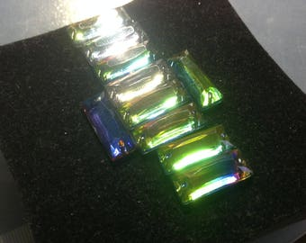 Lot 8 connector rectangular Prism multicolor