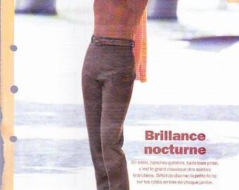 October 1996 cigarette pants pattern