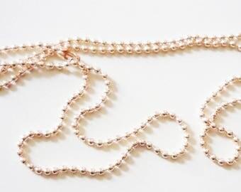Set of 10 beige 70cm ball chain / gold (light)