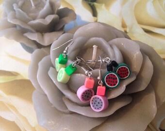 """""""Fruit fimo"""" earrings"""