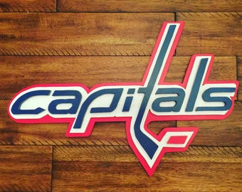 Washington Capitals Multi Dimensional Wooden Sign