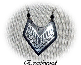Gabon ebony wood necklace