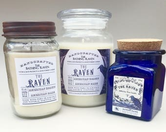THE RAVEN - 100% soy candles, 3 sizes available