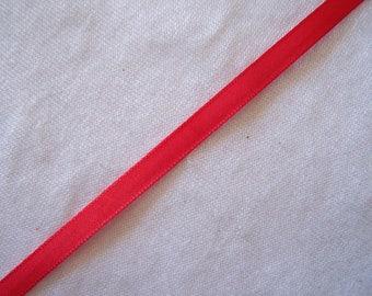 Ribbon taffeta, red, width 6 mm (T-935)