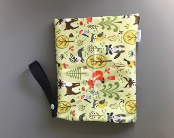 Cloth wipes wet bag (forest)