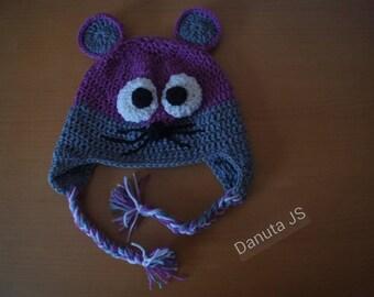 Mouse hat. golotte handmade crochet with acrylic yarn