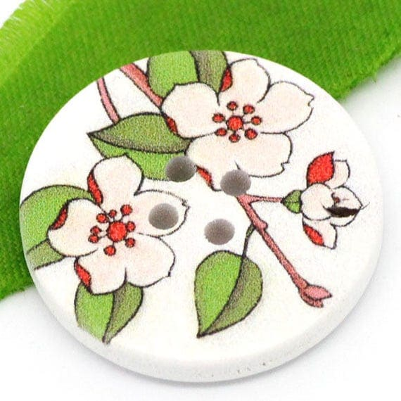 BBR30211 - 2 BUTTONS ROUND 30 MM WOODEN PATTERN WITH COLORS
