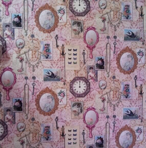 Fabric coupon - cotton fashion pattern - size 65 x 70 cm