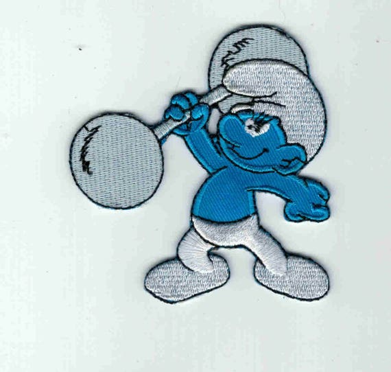 """Patch fusible trend """"smurf"""" pattern"""