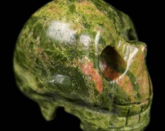 40mm Crystal Skull - unakite