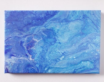 "Abstract Art Acrylic Painting Original | ""Underwater"" 20cm x 30cm Canvas"