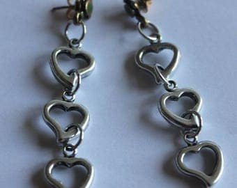 Silver dangle earring