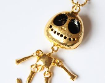 with hinged snowman pendant necklace