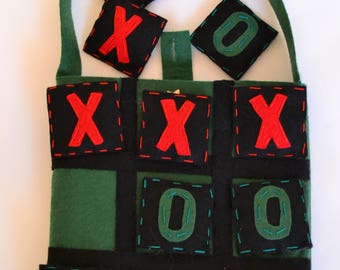 Tic tac toe-felt game-felt bag
