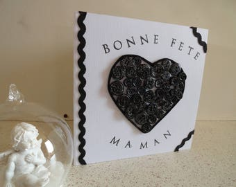 "Black and white card ""Happy mother's day"""