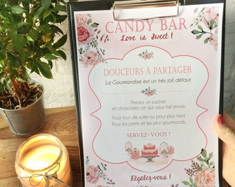 Candy bar wedding romantic poster