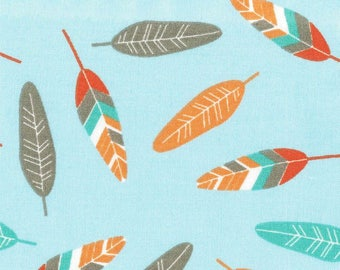 Cotton fabric feathers - in multiples of 25 cm