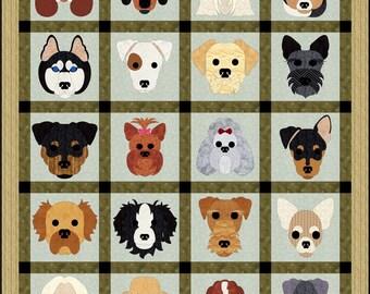 Dog Days. applique block pattern
