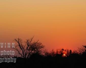 Beautiful Sunset Captured in Africa