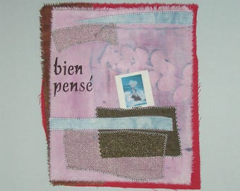"Textile art print called ""thoughtful"""