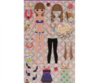 Stickers to foam embossed Dress Up Lili - APLI Kids - Ref 14572