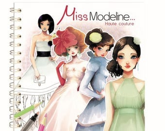 Notebook design 20 x 20 cm - Miss Modeline Haute Couture - Ref 62320