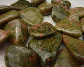 3 cm 1 stone rolled unakite for gemstones jewelry making