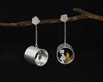 Wonderful pair of earrings in Silver 925 eme lovers
