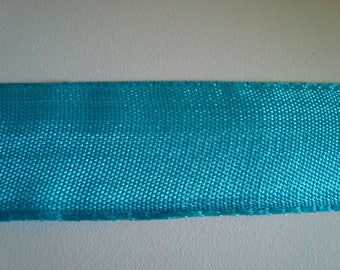 Ribbon lace braid turquoise 100% polyester 3 cm wide