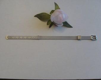 Bracelet stainless steel buckle Matt silver