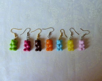 Earrings (pair) delicious Cubs Marshmallow chocolate lemon designer jewelery