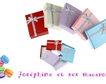 Yellow 1 jewel 9x7cm Rectangle gift box