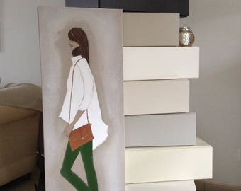 Picture realized model painting for home decor