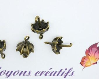 Set of 10 charms Bronze umbrella 20x14mm