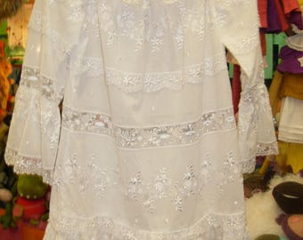 Tunic in broderie anglaise cotton