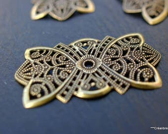 5 patterns filigree bronze 50 x 25 mm