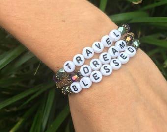 Tiny Words Bracelet