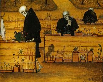 Cross Stitch - Garden of Death by Simberg