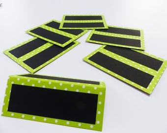 6 mark up green chalkboard easel with white dots