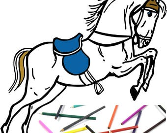 Six Animal Adult Kids Coloring Pages Instant Download Design Pattern