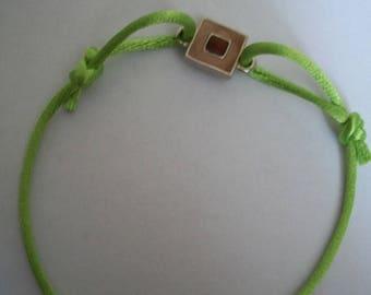 Handmade green charm bracelet