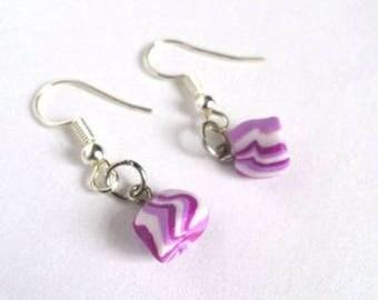 Earrings purple boiled sxeet