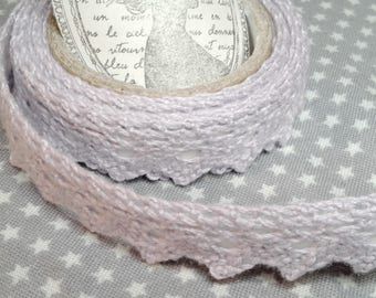 ☆ a roll of 2 meters lace cotton, purple, 18 mm largeur☆