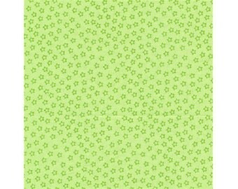 green grounds United faux patchwork fabric star