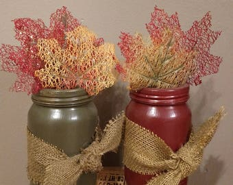 Fall inspired Mason jar home decor